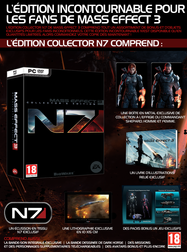 Mass Effect 3 Ultimate Collectors Edition (2013) [MULTI-FR]